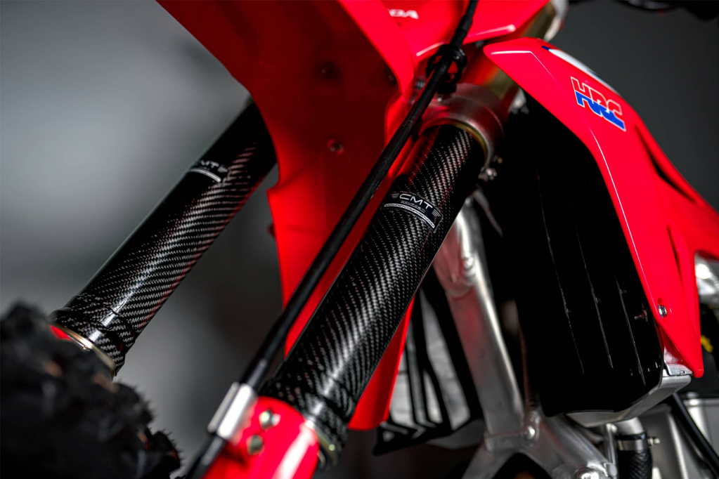 CMT Compositi - Carbon forks protection for Honda CRF 450 R 2013 - 2014
