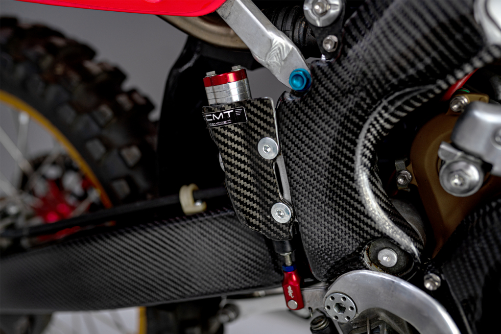 CMT Compositi - Carbon rear pump protection for Honda CRF 450 2019 - 2020